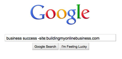 googlesearchtips excludespecificsite The Answer To Every Question Youll Ever Have